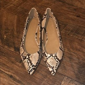 Brand New Without Box ASOS snake print shoes